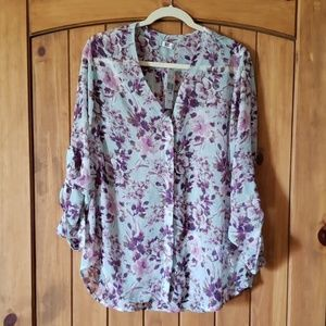 Kut From the Kloth Mint floral blouse